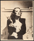 """Movie Posters:Miscellaneous, Marlene Dietrich (Hollywood Today, Late 1930s). Very Fine-. FanClub Photo (5"""" X 6"""") with Original Envelope. Miscellaneous....(Total: 2 Items)"""