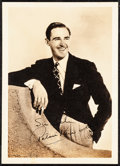 """Movie Posters:Miscellaneous, Patric Knowles & Other Lot (Early 1940s). Very Fine-.Autographed Fan Club Photo & Fan Club Photo (5"""" X 7"""") withOriginal En... (Total: 4 Items)"""