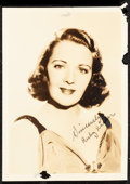 """Movie Posters:Miscellaneous, Ruby Keeler Lot (Warner Brothers, Late 1930s ). Very Fine-.Autographed Fan Club Photos (2) (5"""" X 7"""") with Original Envelope...(Total: 4 Items)"""
