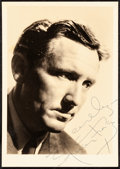"""Movie Posters:Miscellaneous, Spencer Tracy (MGM, Early 1940s). Very Fine. Autographed Fan ClubPhoto (5"""" X 7"""") with Original Envelope. Miscellaneous.. ... (Total:2 Items)"""