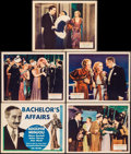 """Movie Posters:Comedy, Bachelor's Affairs (Fox, 1932). Overall: Very Fine-. Title LobbyCard & Lobby Cards (4) (11"""" X 14""""). Comedy. From the Coll...(Total: 5 Items)"""