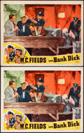 """Movie Posters:Comedy, The Bank Dick (Realart, R-1949). Overall: Very Fine-. Lobby Cards (2) Identical (11"""" X 14""""). Comedy. From the Collection o... (Total: 2 Items)"""