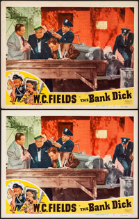 """The Bank Dick (Realart, R-1949). Overall: Very Fine-. Lobby Cards (2) Identical (11"""" X 14""""). Comedy. From the..."""