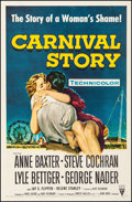 """Movie Posters:Drama, Carnival Story (RKO, 1954). Fine+ on Linen. One Sheet (27"""" X41.5""""). Drama. From the Collection of Frank Buxton, of which..."""