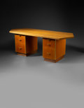 Furniture , Frank Lloyd Wright (American, 1867-1959). Pedestal Desk from Price Tower, Bartlesville, Oklahoma, 1956. Mahogany, oak, a...
