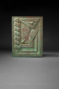 Metalwork, Frank Lloyd Wright (American, 1867-1959). Relief Panel from Price Tower, Bartlesville, Oklahoma, 1956. Copper with patin...