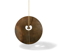 Harry Bertoia (Italian/American, 1915-1978) Untitled (Gong), circa 1973 Bronze with patina, together