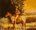 Paintings:20th Century, Robert Orduno (American, b. 1933). On Horseback, 1980. Oil on canvas. 29 x 35 inches (73.7 x 88.9 cm). Signed and dated ...