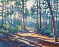 Paintings:Contemporary   (1950 to present), Ann Phifer Moore Reyes (American, 20th Century). Path Through the Pines. Oil on canvas. 47-1/2 x 59-3/4 inches (120.7 x ...