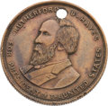 Political:Tokens & Medals, Rutherford B. Hayes: Rare Unlisted Campaign Token.. ...