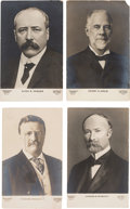 Political:Small Paper (1896-present), Theodore Roosevelt and Alton B. Parker: Set of Real Photo Postcards.. ...