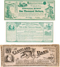 Political:Small Paper (pre-1896), Benjamin Butler and Grover Cleveland: Satirical Currency.. ...