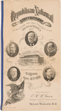 Political:Small Paper (1896-present), [William McKinley]: 1896 RNC Texas Midland Railroad Giveaway.. ...