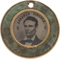 Political:Ferrotypes / Photo Badges (pre-1896), Abraham Lincoln: Rare Back-to-Back Ferrotype in Unusual Frame.. ...
