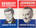 Political:Posters & Broadsides (1896-present), Kennedy & Johnson: Matching Posters.. ... (Total: 2 Items)