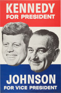 Political:Posters & Broadsides (1896-present), Kennedy & Johnson: Floating Head Jugate Poster.. ...