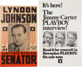Political:Posters & Broadsides (1896-present), Lyndon B. Johnson: 1948 Senatorial Poster with Bonus.. ...