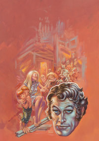 Kelly Freas Walls Within Walls Paperback Novel Cover Painting Original Art (Harlequin/Laser Books, 1975)