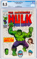 Silver Age (1956-1969):Superhero, The Incredible Hulk #116 (Marvel, 1969) CGC VF+ 8.5 Cream to off-white pages....