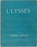 Books:Literature 1900-up, James Joyce. Ulysses. Paris: Shakespeare and Company, 1922. First edition, limited to 1,000 numbered copies, of whic...