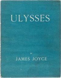James Joyce. Ulysses. Paris: Shakespeare and Company, 1922. First edition, limited to 1,000 num