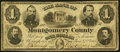Obsoletes By State:Pennsylvania, Norristown, PA- Bank of Montgomery County $1 Jan. 2, 1865 G14 Hoober 281-1 Fine.. ...