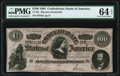 """Confederate Notes:1864 Issues, CT65/491 """"Havana"""" Counterfeit $100 1864 PMG Choice Uncirculated 64 EPQ.. ..."""