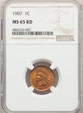 Indian Cents: , 1907 1C MS65 Red NGC. NGC Census: (101/15). PCGS Population: (219/47). CDN: $410 Whsle. Bid for problem-free NGC/PCGS MS65....