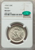 Commemorative Silver, 1936-S 50C Texas MS66+ NGC. CAC. NGC Census: (513/91 and 8/5+). PCGS Population: (577/129 and 18/24+). CDN: $215 Whsle. Bid...