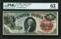 Large Size:Legal Tender Notes, Fr. 18 $1 1869 Legal Tender PMG Choice Uncirculated 63.. ...