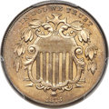 Shield Nickels, 1873 5C Closed 3 MS66 PCGS....