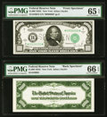 Small Size:Federal Reserve Notes, Fr. 2213-B $1,000 1934C Federal Reserve Note Front and Back Specimens PMG Gem Uncirculated 65 EPQ; Gem Uncirculated 66 EPQ.... (Total: 2 notes)