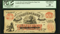 Confederate Notes:1861 Issues, CT-XXI $20 1861 Female Riding Deer Bogus Note Uniface PCGS Extremely Fine 40 Apparent.. ...