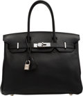 "Luxury Accessories:Bags, Hermès 30cm Black Togo Leather Birkin Bag with Palladium Hardware. I Square, 2005. Condition: 3. 11.5"" Width x 8"" ..."