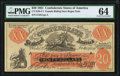Confederate Notes:1861 Issues, CT-XXI/C2 $20 Female Riding Deer Bogus Note 1861 PMG Choice Uncirculated 64.. ...