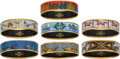 "Luxury Accessories:Accessories, Hermès Set of Seven: Enamel Bangles. Condition: 2. 2.5"" Diameter. ... (Total: 7 Items)"