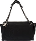 Luxury Accessories:Bags, Chanel Black Caviar Leather CC Shoulder Bag...