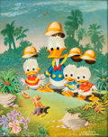 Original Comic Art:Paintings, Carl Barks In Voodoo Land Painting CB-OIL 60 Original Art (1973)....