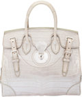 "Luxury Accessories:Bags, Ralph Lauren Silver Alligator Ricky Bag. Condition: 3. 12.5"" Width x 10.5"" Height x 7"" Depth. ..."