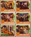 """Movie Posters:Crime, When G-Men Step In (Columbia, 1938). Overall: Fine/Very Fine. TitleLobby Card & Lobby Cards (5) (11"""" X 14""""). Crime.. ... (Total: 6Items)"""
