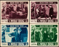 """Movie Posters:Serial, The Wolf Dog & Other Lot (Mascot, 1933). Overall:Very Fine-.Lobby Cards (4) (11"""" X 14"""") & Poster (17.5"""" X 23"""") Chapters 4,... (Total: 4 Items)"""