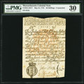 Colonial Notes:Massachusetts, Massachusetts Counterfeit May 31, 1710 20s PMG Very Fine 30.. ...