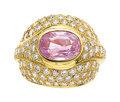 Estate Jewelry:Rings, Pink Sapphire, Diamond, Gold Ring . ...