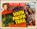 """Movie Posters:Western, South Pacific Trail & Other Lot (Republic, 1952). Rolled,Fine+. Half Sheets (2) (22"""" X 28"""") Style A. Western.. ......"""