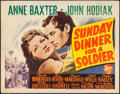 "Movie Posters:Drama, Sunday Dinner for a Soldier (20th Century Fox, 1944). Rolled,Fine/Very Fine. Half Sheet (22"" X 28""). Drama.. ..."