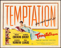 "Movie Posters:Thriller, Temptation (Universal, 1946). Folded and Rolled, Fine/Very Fine. Half Sheets (2) (22"" X 28"") Styles A & B. Thriller.. ... (Total: 2 Items)"
