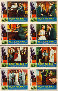 "Rock All Night (American International, 1957). Fine/Very Fine. Lobby Card Set of 8 (11"" X 14""). Rock and Roll..."