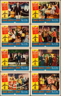 """Movie Posters:Rock and Roll, Shake, Rattle and Rock (American International, 1956). Very Fine.Lobby Card Set of 8 (11"""" X 14""""). Rock and Roll.. ..."""