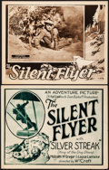 """Movie Posters:Serial, The Silent Flyer (Universal, 1926). Very Fine-. Stock Title LobbyCard & Lobby Card (11"""" X 14"""") Chapter 8 -- """"Flames of Terr...(Total: 2 Items)"""
