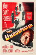"""Movie Posters:Film Noir, The Unsuspected (Warner Brothers, 1947). Folded, Very Fine-. OneSheet (27"""" X 41""""). Film Noir.. ..."""